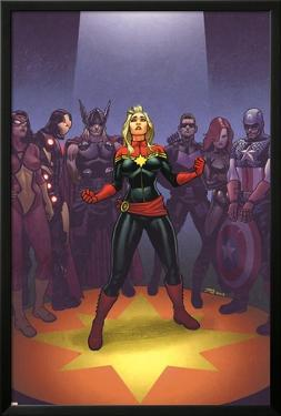 Avengers: the Enemy Within #1 Cover: Captain Marvel, Thor, Iron Man, Hawkeye, Black Widow by Joe Quinones