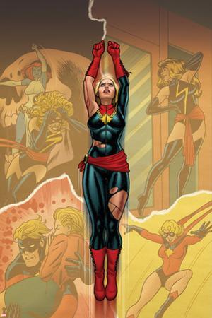 Captain Marvel #14 Cover: Captain Marvel , Ms. Marvel, Mystique by Joe Quinones