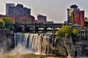 A View of High Falls on the Genesee River, Rochester New York State by Joe Restuccia