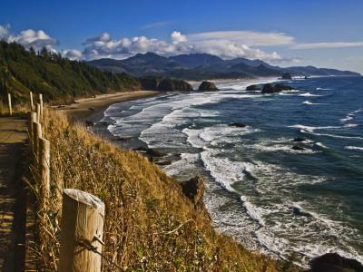 Coastline North of Cannon Beach, Ecola State Park, Oregon, USA