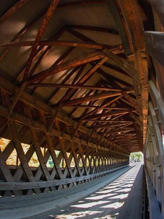 Covered Bridge, Woodstock, Vermont, USA