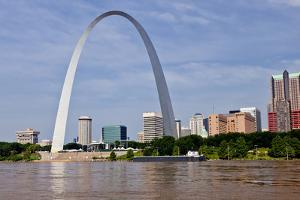 The St Louis Arch from the Mississippi River, Missouri, USA by Joe Restuccia III