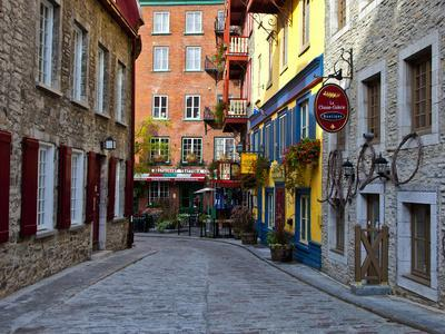 The Streets of Old Quebec City in Quebec, Canada