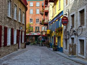 The Streets of Old Quebec City in Quebec, Canada by Joe Restuccia III