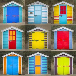 Beach Huts I by Joe Reynolds