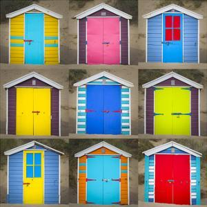 Beach Huts II by Joe Reynolds
