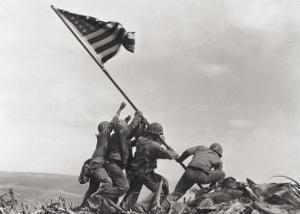 Flag Raising on Iwo Jima, February 23, 1945 by Joe Rosenthal