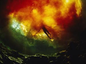 Diver at Devils Ear Spring, Florida by Joe Stancampiano