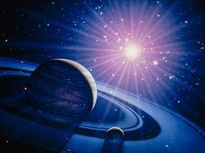 Artwork of a White Dwarf Nova