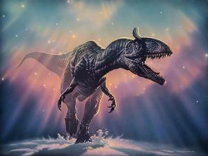 Cryolophosaurus Dinosaur by Joe Tucciarone