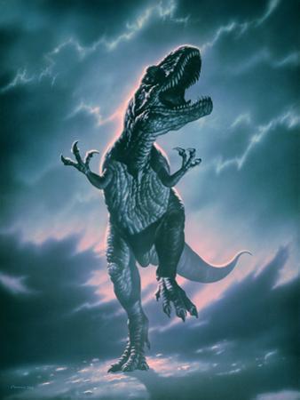 Giant Allosaurus Dinosaur by Joe Tucciarone