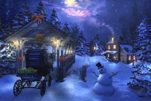 Snowman Crossing by Joel Christopher Payne