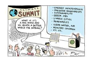 Climate Summit.  What if it's a big hoax and we create a better world for nothing? by Joel Pett