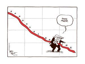 Fake math! Approval rating. T. by Joel Pett