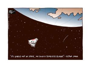 R.I.P. J. Glenn. It's lonely out in space, on such a timeless flight. - Elton John. by Joel Pett