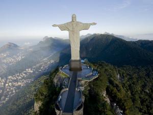 Christ the Redeemer Statue Above Rio De Janeiro by Joel Sartore
