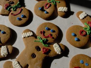 Gingerbread Cookies Display Different Facial Expressions by Joel Sartore