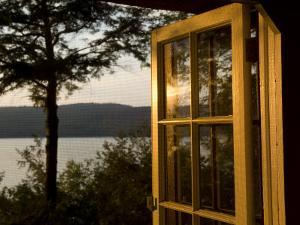 Open Window with a View of Lake Champlain by Joel Sartore