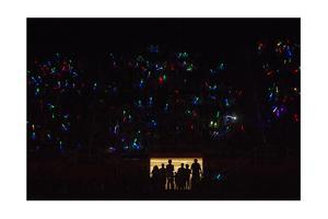 Teenagers Play with Glow Sticks at a Convention in Knoxville, Tennessee by Joel Sartore