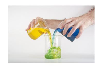 The Demonstration of Primary Colors Being Added Together to Create a Secondary Color