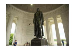 The Statue of Thomas Jefferson in the Jefferson Memorial in Washington, Dc by Joel Sartore