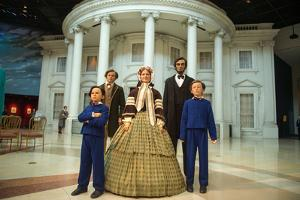 The Wax Sculpture Family of Abraham Lincoln Inside of the Lincoln Museum in Springfield by Joel Sartore