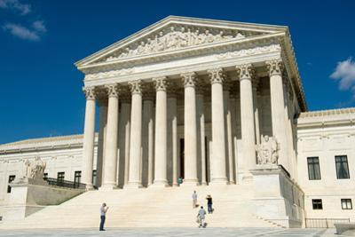 Tourists Visit the United States Supreme Court Building by Joel Sartore
