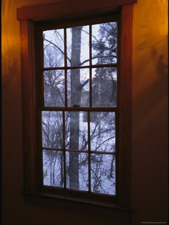 View of a Snowy Landscape From a Window at Joel Sartore's Home by Joel Sartore