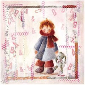 Enfant Écharpe Rouge by Joelle Wolff