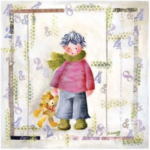 Enfant Écharpe Verte by Joelle Wolff