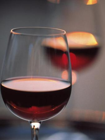 Close up of a Glass of Red Wine by Joerg Lehmann