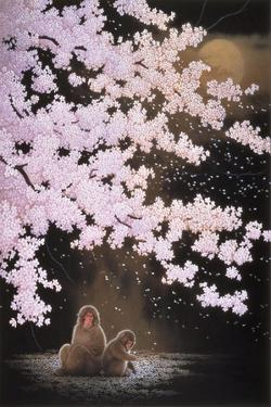 Falling Cherry Blossoms by Joh Naito