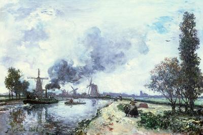 Dutch Landscape with Windmills, 1868
