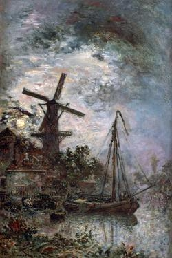 Landscape with a Mill, 1888 by Johan Barthold Jongkind