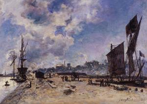 Quay at Honfleur by Johan Barthold Jongkind