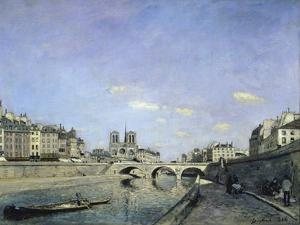 The Seine and Notre, Dame in Paris, c.1864 by Johan-Barthold Jongkind