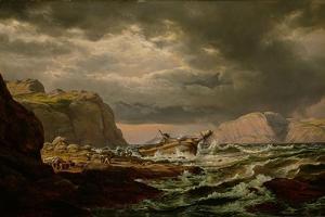 Shipwreck on the Norwegian Coast by Johan Christian Clausen Dahl
