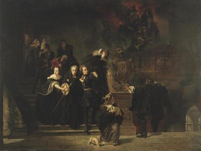The Fire at the Royal Palace, Stockholm, May 7th, 1697, 1862-66 by Johan Fredrik Hockert