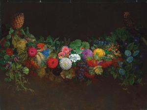A Magnificent Garland of Fruit and Flowers, 1840 by Johan Laurents Jensen