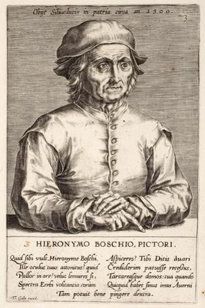 Hieronymous Bosch, Plate 3 from the Series Pictorum Aliquot Celebrium Germanaie Inferioris Effigies