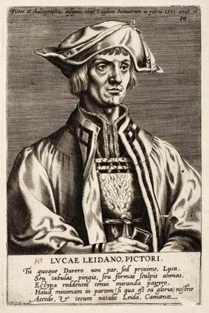 Lucas Van Leyden, Plate 10 from the Series Pictorum Aliquot Celebrium Germanaie Inferioris Effigies
