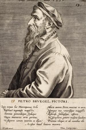 """Peter Breughel, Plate 19 from the Series """"Pictorum Aliquot Celebrium Germanaie Inferioris Effigies"""""""