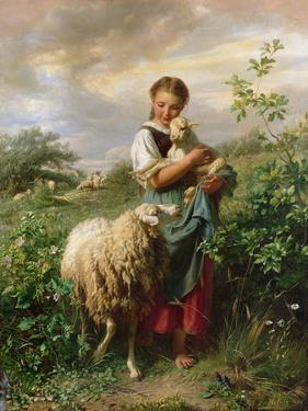 The Shepherdess, 1866 by Johann Baptist Hofner