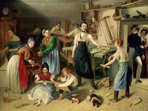 Die Fleißige Tischlerfamilie (The Diligent Carpenter Family) by Johann Baptist Reiter