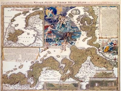 Map of the Christmas Flood of 1717, 1720