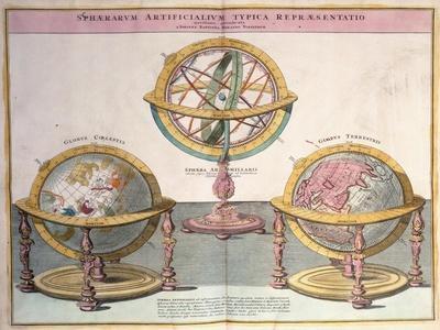 Vignettes of the World from Grosser Atlas, 1725