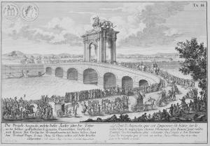Bridge of Augustus on Via Flaminia, Italy, from Entwurf Einer Historischen Architektur by Johann Bernhard Fischer Von Erlach