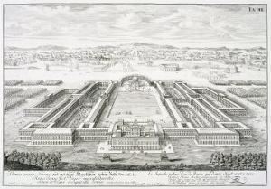 """Golden Palace of the Emperor Nero, Rome, from """"Entwurf Einer Historischen Architektur,"""" 1721 by Johann Bernhard Fischer Von Erlach"""