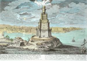 Lighthouse at Alexandria, Built by Ptolemy the Great by Johann Bernhard Fischer Von Erlach