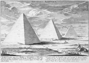 Pyramids of Egypt, Plate 4, Entwurf Einer Historischen Architektur, Engraved by J.A. Delsenbach by Johann Bernhard Fischer Von Erlach